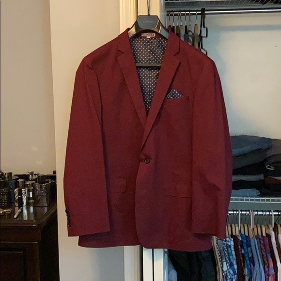 Express Other - 40R Burgundy Express Blazer